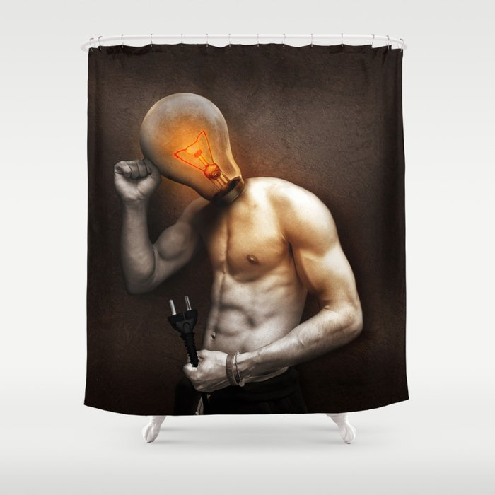 Glow Lamp Shower Curtain