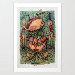Mindful Harvesting Art Print