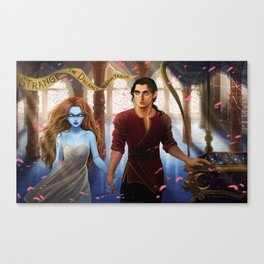 The Muse of Nightmares and the Dreamer Canvas Print