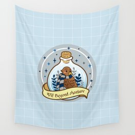 Blue Eagle In The Bottle Wall Tapestry