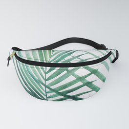 Emerald Palm Fronds Watercolor Fanny Pack