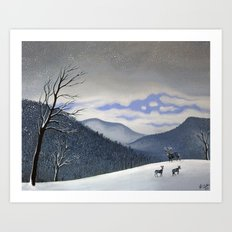 Snow Clearing Art Print