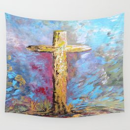 Colors of the Cross Wall Tapestry