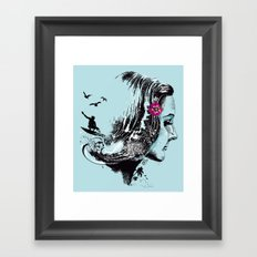 SURFHAIR Framed Art Print