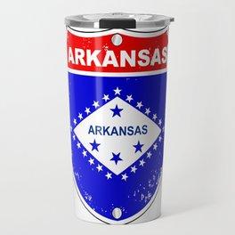 Arkansas Interstate Sign Travel Mug