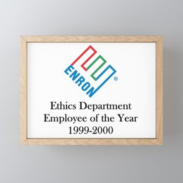 Enron ethics department satire/ parody Framed Mini Art Print