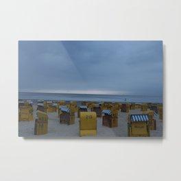 Sunset on the North Sea Coast Metal Print