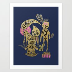 Three Leaders Art Print