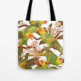 The extinction of the Carolina Parakeet. Tote Bag
