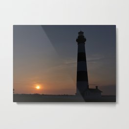 Bodie Island Lighthouse In Outer Banks Metal Print