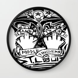 Middle Fingers Wall Clock