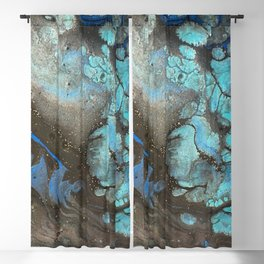 Teal Cell Blackout Curtain