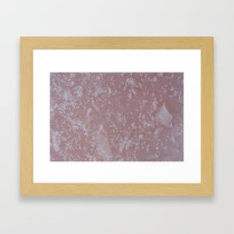 Icy pink surface, abstract image Framed Art Print