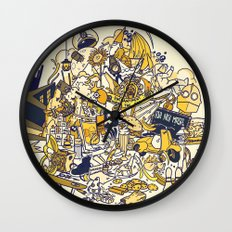 Movies Explosion Wall Clock
