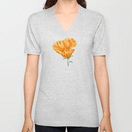 Yellow poppies Unisex V-Neck