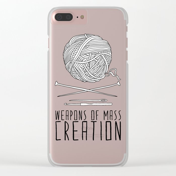 Weapons Of Mass Creation - Knitting Clear iPhone Case