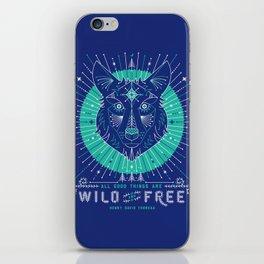 Wild & Free Wolf – Navy iPhone Skin