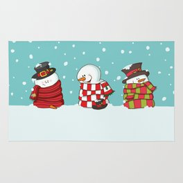 Wrapped Snowmen Rug