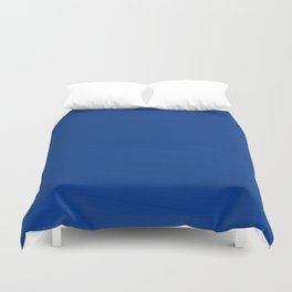 Slate Blue Brush Texture - Solid Color Duvet Cover