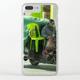 Come ride with me Clear iPhone Case