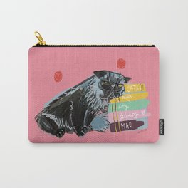 Freddy- Cat pattern in Pink Rose Carry-All Pouch