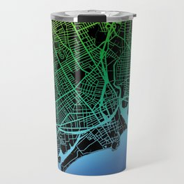 Bridgeport, CT, USA, City, Map, Rainbow, Map, Art, Print Travel Mug