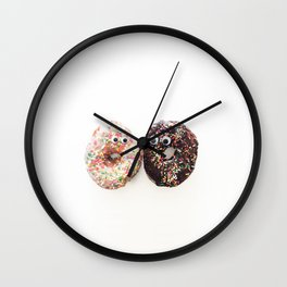 Donut Conversation Food Photography Wall Clock