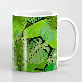 Mix Tropical Leafs mashup pattern Coffee Mug
