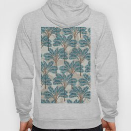 Exotic Palms No. 001 / Tropical Plants in Turquoise Hoody