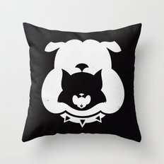 Cartoon Food Chain Throw Pillow