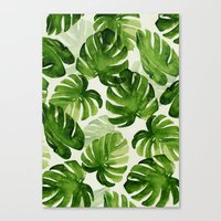 tropical Canvas Prints featuring TROPICAL by judith van den hoek
