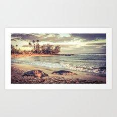 Beach Friends Art Print