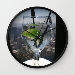 Lime in the Sky Wall Clock