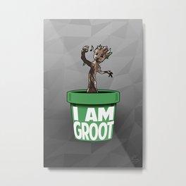 Baby Groot Metal Print