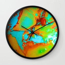 Orange to Blue Medley Wall Clock
