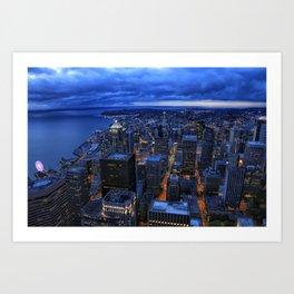 Emerald City Blue Hour Art Print