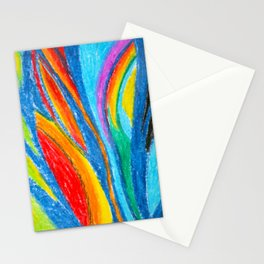 Sun rays and Sea waves Stationery Cards