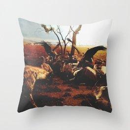 Hyenas Throw Pillow