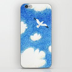 Seagull in the sky iPhone Skin