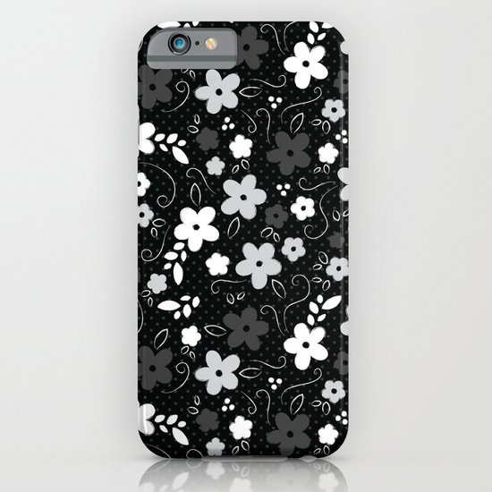 Black & White Floral iPhone & iPod Case