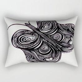 Butterlfy - Fly Free Buttefly - Black Butterfly - Rectangular Pillow