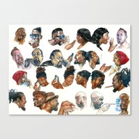 gossip girl Canvas Prints featuring Gossip by Occasional Superstar