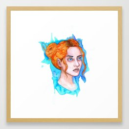 Clementine Kruczynski Watercolor Framed Art Print