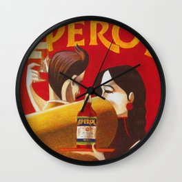 Aperol Alcohol Aperitif Spritz Vintage Advertising Poster Wall Clock
