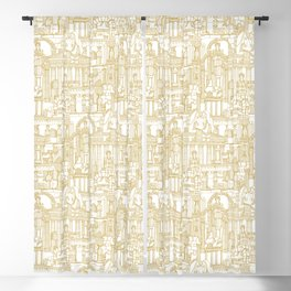 Ancient Greece gold white Blackout Curtain