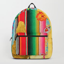 Gold Dipped Boho Serape Dream Backpack
