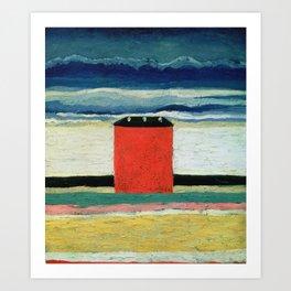 Kazimir Malevich - Red House Art Print