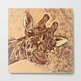 Animal ArtStudio -amazing Giraffe Metal Print