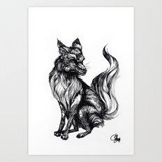 Foxy Two Art Print