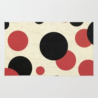 polka Area & Throw Rugs featuring Ladybird Polka by Paula Belle Flores